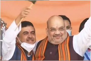 Suvendu Adhikari joins BJP with 40+ TMC leaders at Amit Shah's rally in Midnapore