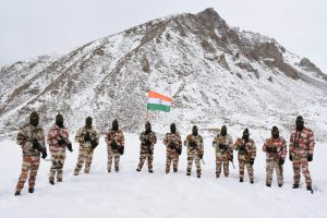 ITBP's Republic Day march with Tricolour at 17,000 ft
