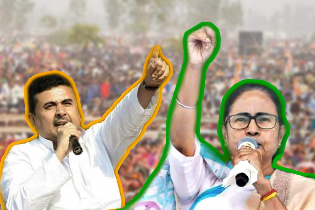 Mamata Banerjee, Suvendu Adhikari, West Bengal Assembly Election 2021, Mamata Banerjee Nandigram, Mamata Banerjee Nandigram Election announcement, Mamata Banerjee vs Suvendu Adhikari, Mamata Banerjee Suvendu Adhikari in Nandigram, Bengal vote 2021, ekusher vote, Bengal Election, 2021 Bengal vote news, Bengal Election news, Suvendu Adhikari Nandigram
