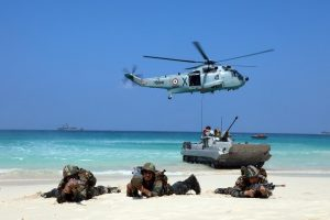 Indian Navy conducts exercise AMPHEX – 21 with Army and Air Force