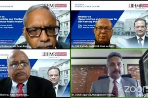 IIHMR University organizes webinar on 'Opportunities and Challenges for 21st Century Public Health'
