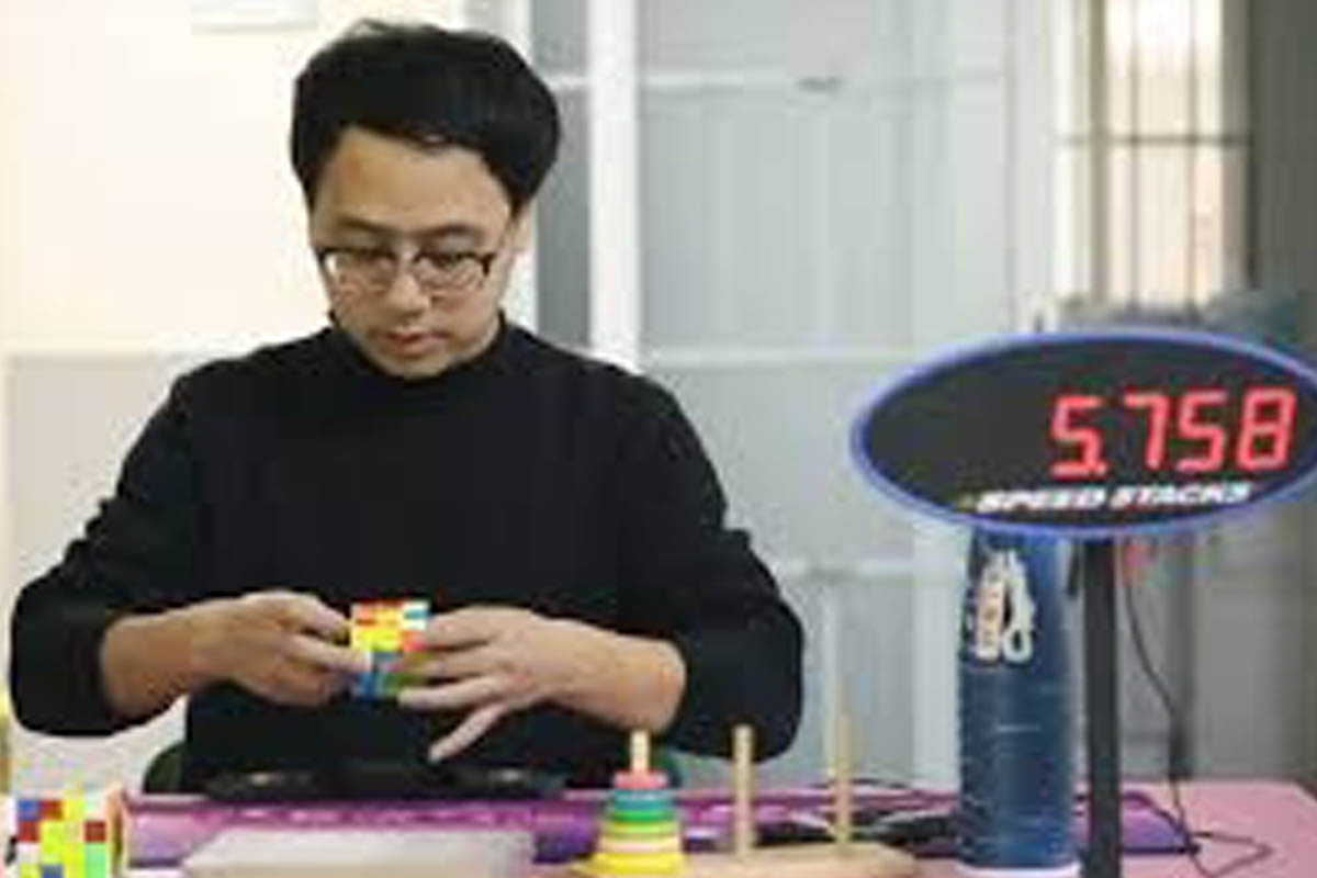 Chinese man, fastest hands