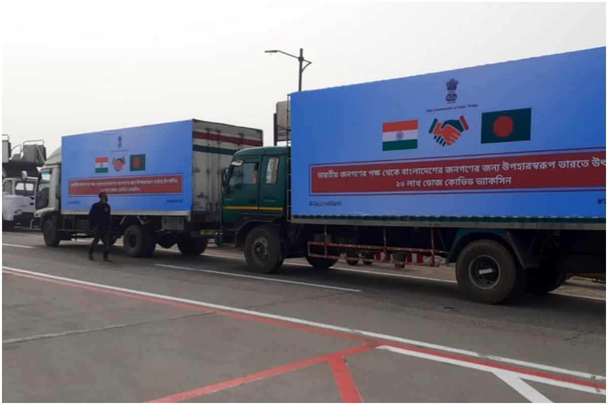 20 lakh doses of Covishield vaccine from India reach Bangladesh