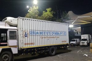 First batch of Covishield left Pune today morning amid tight security