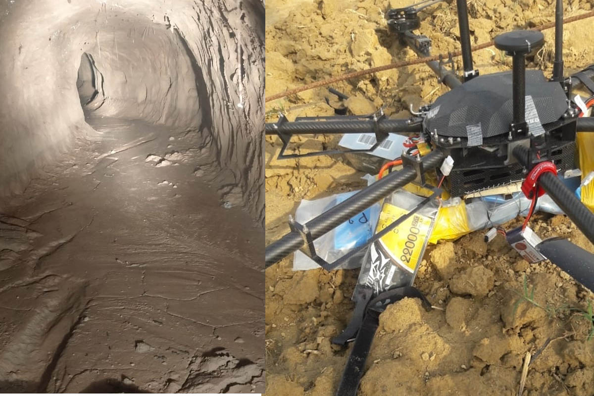 Pakistani, cross-border, terror tunnels, drones, security forces