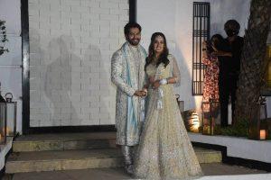 Newlyweds Varun Dhawan-Natasha Dalal return to Mumbai from Alibaug