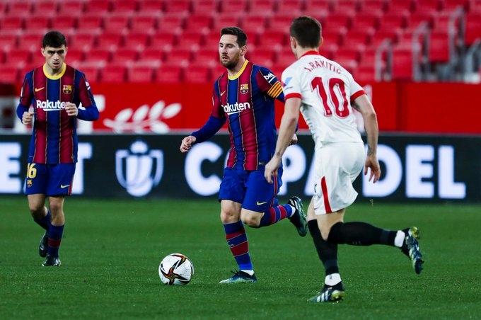Sevilla Beat Barcelona 2 0 In First Leg Of Copa Del Ray Semifinal