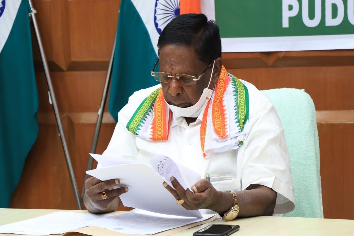 Congress government, Puducherry, Chief Minister V Narayanasamy,