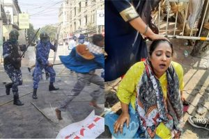 DYFI's Nabanna march turns violent as police resorts to water cannons, lathicharging