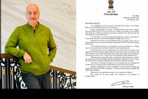 Anupam Kher expresses gratitude to PM Modi for his signed letter