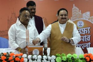 JP Nadda launches 'Lokkho Sonar Bangla' campaign in Bengal