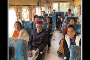 Himachal Governor takes a ride on Shimla-Kalka world heritage rail line