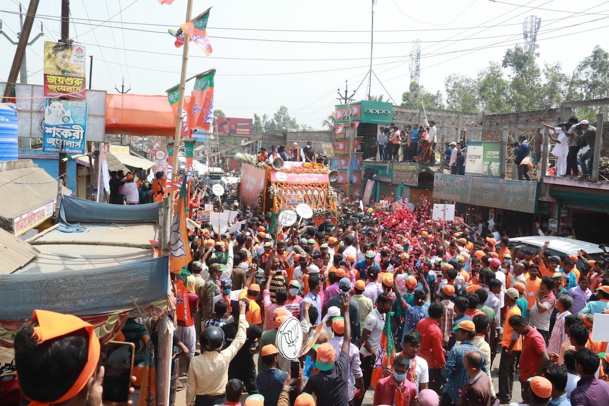 Union home minister Amit Shah, Trinamul supremo Mamata Banerje, Nandigram, West Bengal, West Bengal Assembly Elections, West Bengal Assembly polls, BJP candidate Suvendu Adhikari, West Bengal Elections 2021, West Bengal Assembly Election 2021,