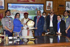 Shimla College scouts develop 'Swarnim Pushp Vatika'