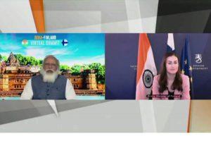 Prime Minister Modi and Prime Minister of Finland Sanna Marin hold virtual summit