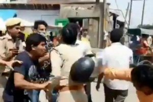 Several cops thrashed in public following scuffle with RSS supporters in Vrindavan