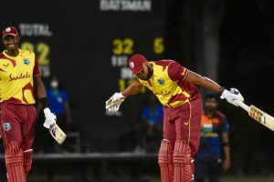 Kieron Pollard hits six sixes in one over during West Indies' win over Sri Lanka
