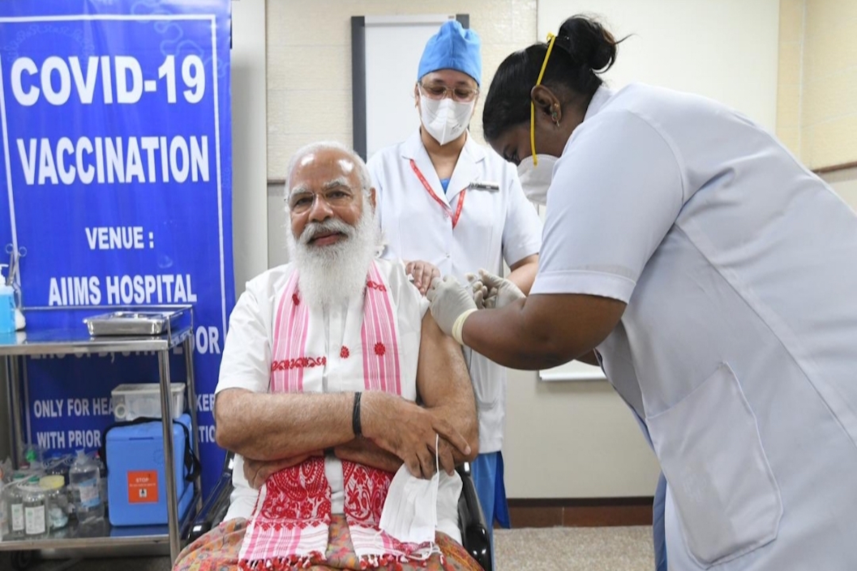 Prime Minister Narendra Modi, first dose of Covid vaccine, All India Institute of Medical Sciences (AIIMS), vaccination centres,