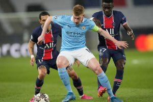 De Bruyne, Mahrez give City lead over PSG in Champions League semis