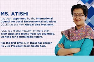 ICLEI elects Atishi as next Global Vice President; first from South Asia