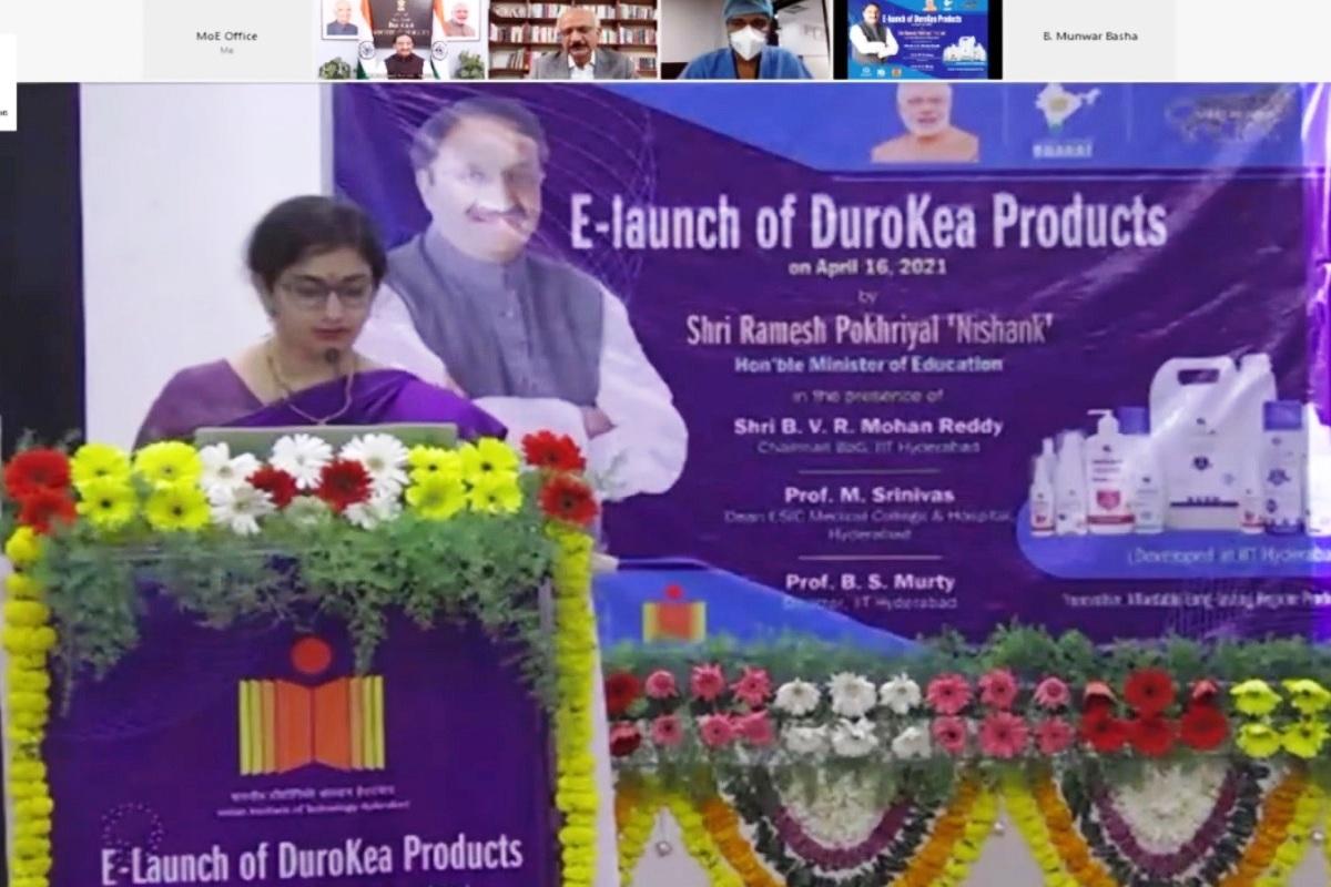 DuroKea Series, Ramesh Pokhriyal 'Nishank', IIT Hyderabad, COVID-19 virus