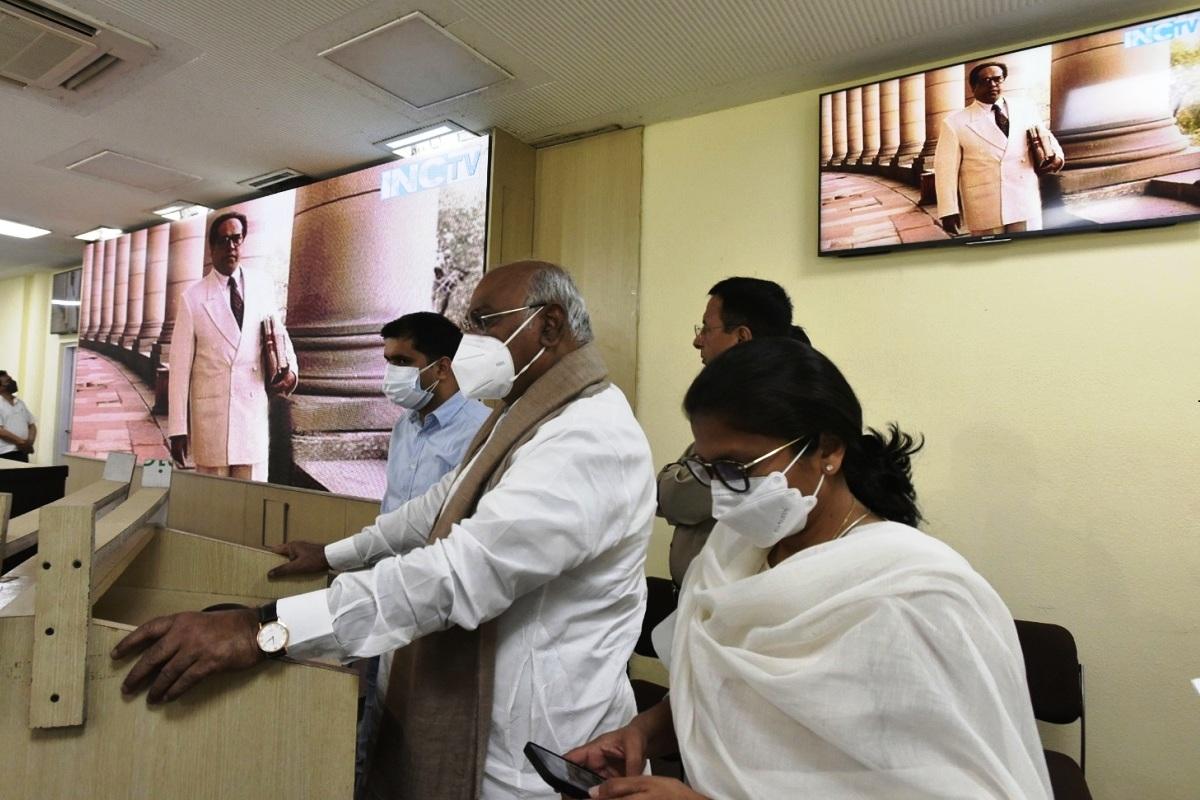 Congress, INC TV, Mallikarjun Kharge, Randeep Surjewala