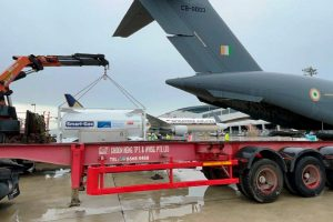 IAF engaged to transport cryogenic oxygen tanks from Singapore, informs MHA