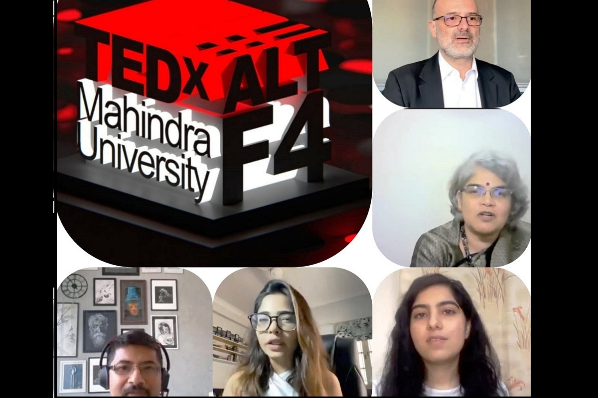 Mahindra University, TEDx conference, Alt + F4, TEDxMahindraUniversity