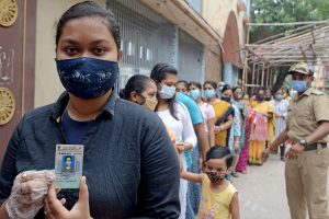 Amidst massive virus surge,75.06 per cent turnout in seventh phase polling