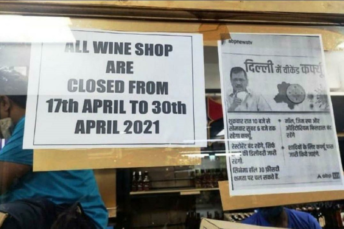 liquor shops, weekend curfew, Delhi, weekend lockdown, Wine, Beer