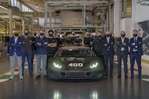 Lamborghini announces production of the 400th Huracán racing car