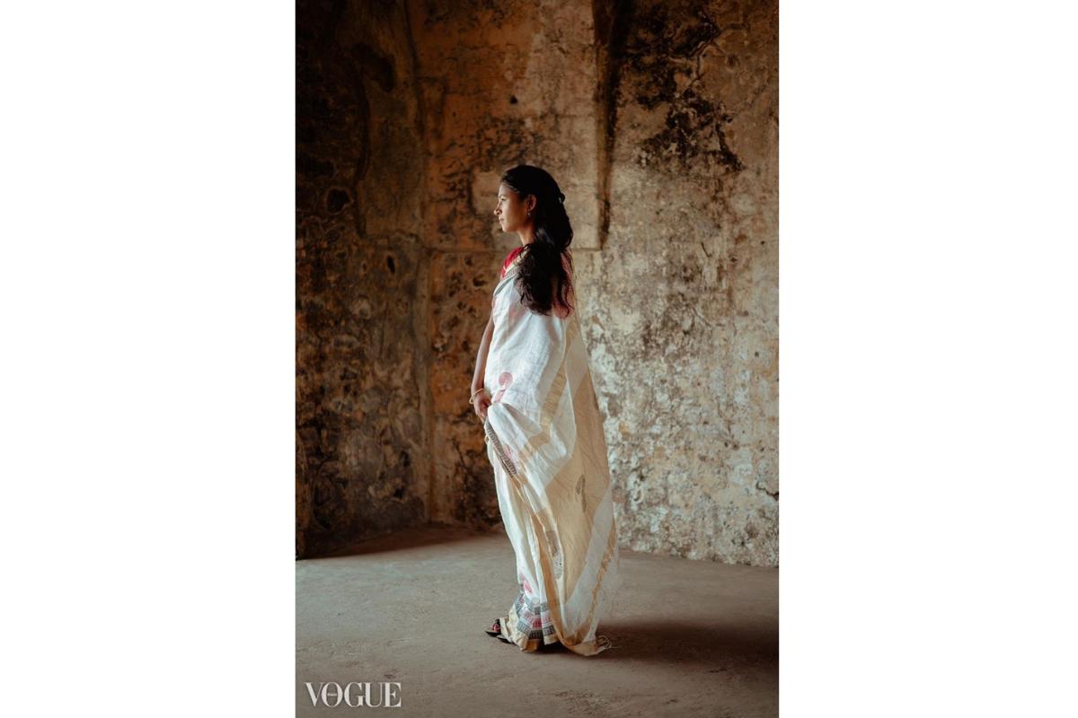 Vogue fashion magazine, bagh print