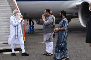 PM Modi arrives at Bhavnagar, will review cyclone damage
