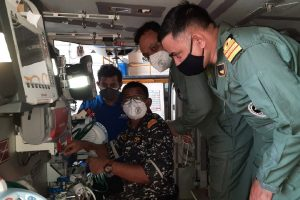 ALH MK III Aircraft of Indian Navy fitted with medical ICU