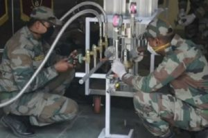 Indian Army engineers innovate solution for efficient conversion of liquid oxygen to low-pressure oxygen for COVID patients