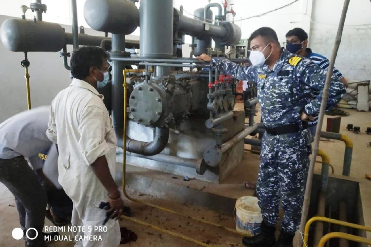 Indian Navy, Oxygen Plants, Andhra Pradesh