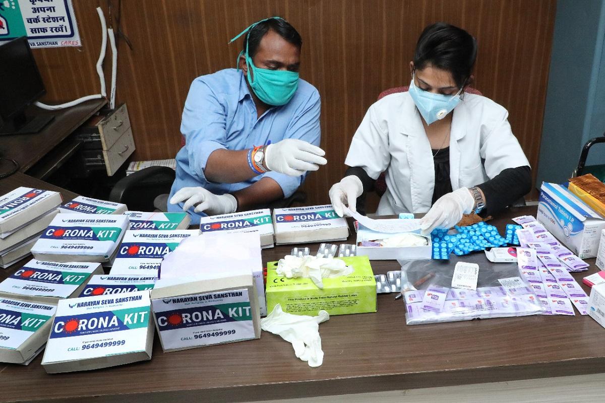 Narayan Seva Sansthan, COVID-19 patients, Corona Medicine Kit