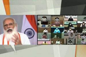 PM Modi interacts with state and district officials on COVID-19 situation