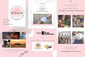 Jacqueline's initiative YOLO Foundation to create and share stories of kindness