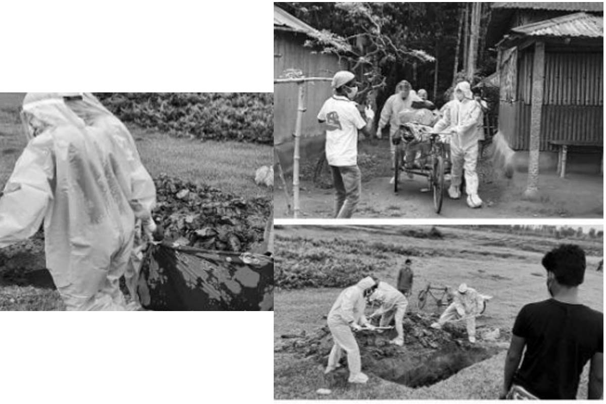 Red Volunteers, dead man, family
