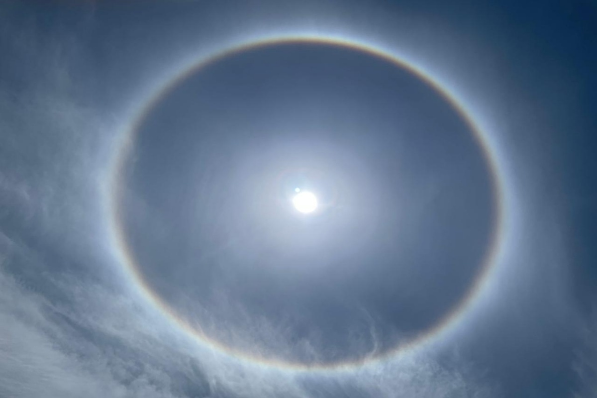 Sun Halo, Bengaluru, atmospheric phenomenon