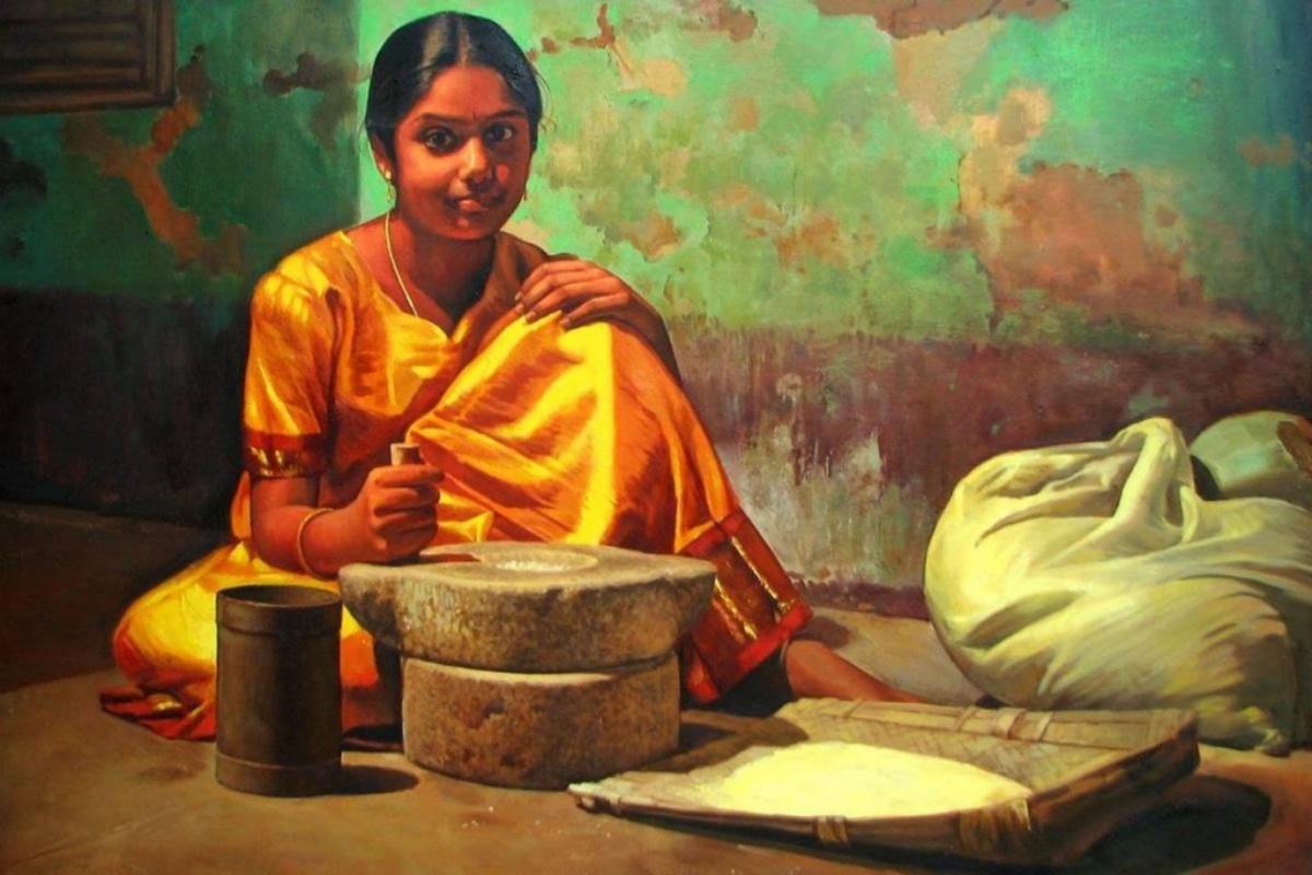 artist S. Elayaraja, Dravidian , Painting, realistic art, covid 19, pandemic, coronavirus