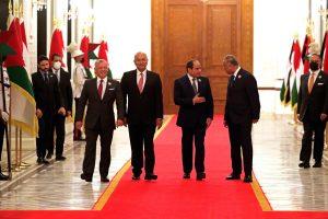 Egyptian, Jordanian, Iraqi leaders meet in Baghdad