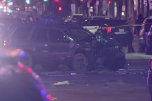 Woman dead as car rams into protesters in Minneapolis