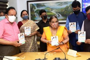 Dr Harsh Vardhan unveils Dr Krishna Saksena's book My Joys and Sorrows – as a Mother of a Special Child