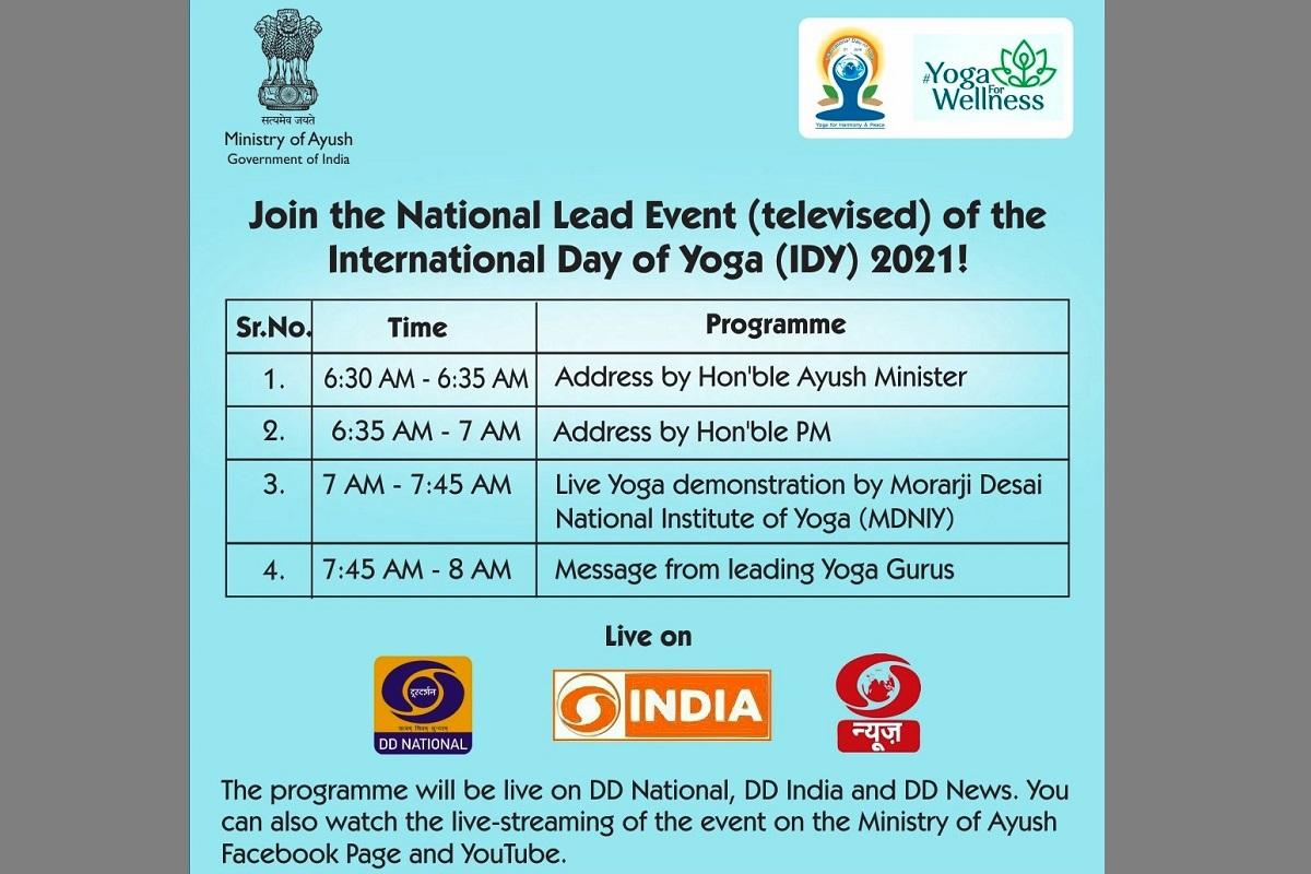 International Day of Yoga 2021, COVID-19 pandemic, Doordarshan channels