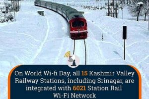 All 15 Kashmir Valley railway stations get integrated with 6021 Station Rail Wi-Fi Network