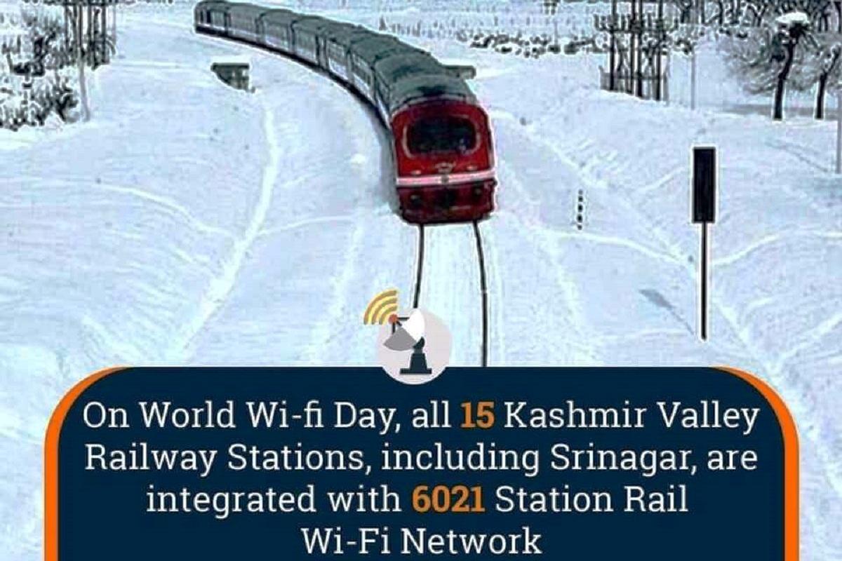 Kashmir Valley railway stations, Wi-Fi Network, Srinagar