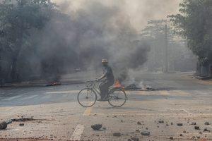 Myanmar village razed, at least two dead
