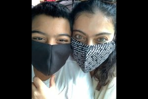 Kajol shares glimpse of 'the masked bandits'